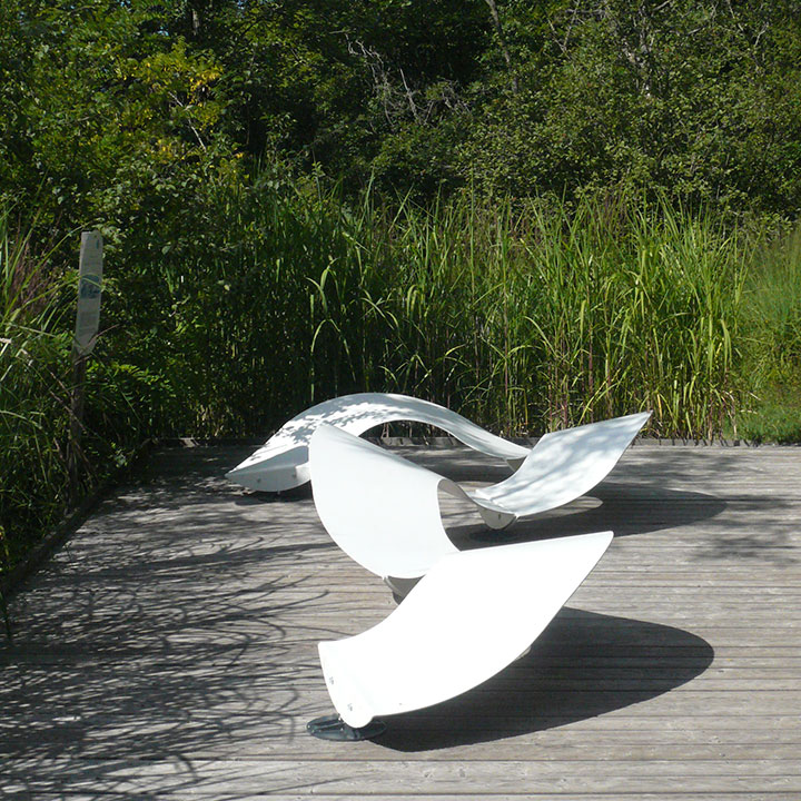 contemporary street furniture -urban bench ondine