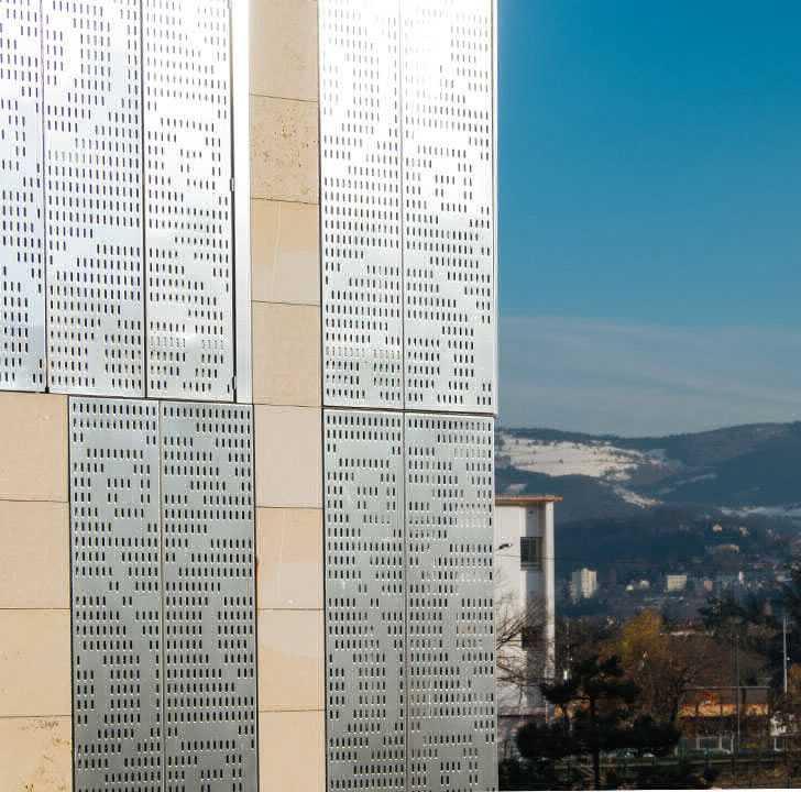 Habillage façade design Pole optique