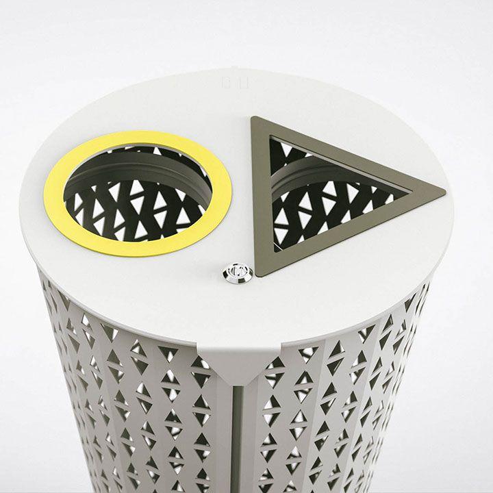 corbeille de tri-bin-metal-outdoor-mobilier-street furniture