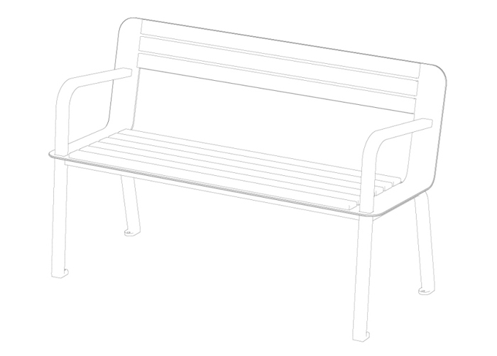 Chaises-bancs-bench-metal-mobilierurbain-streetfurniture-TFURBAN