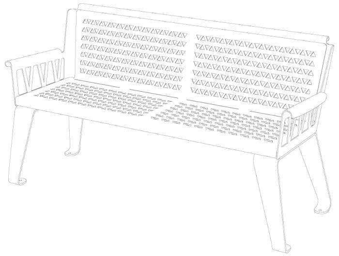 banc-bench-metal-mobilier-outdoor-design-urbain-street furniture