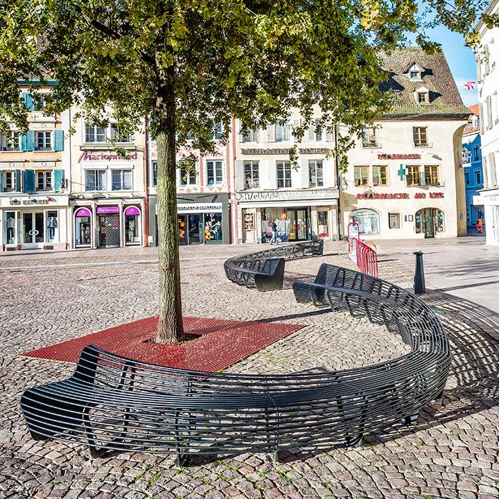 Banc Circulaire En M 233 Tal Pour Espaces Publics
