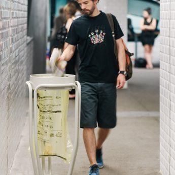 Mobilier urbain poubelle vigipirate