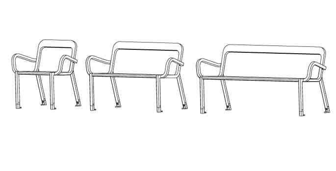 Plan banc et chaise design 21S