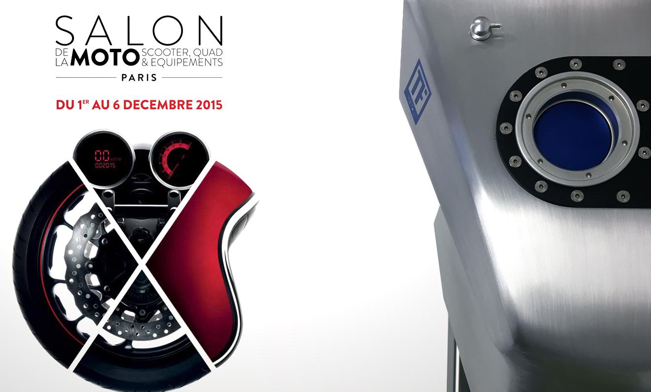 TF Metal expose au Salon du 2 roues de Paris.