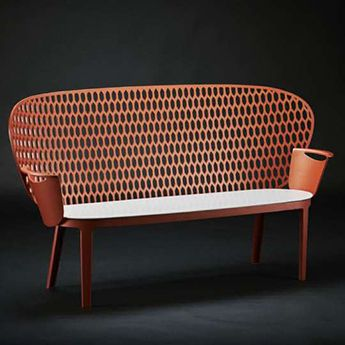 Mobilier urbain - design - banc - bench - ash tray- Marc Aurel - metal - mobilier - urbain - outdoor - street furniture