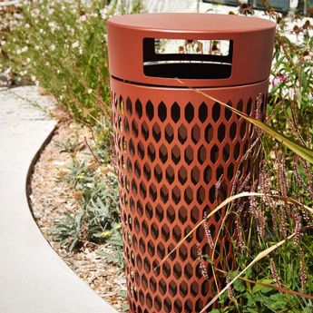 Mobilier urbain - design - corbeille - bins - Marc Aurel - metal - mobilier - urbain - outdoor - street furniture