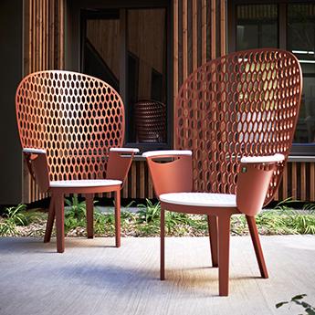 Mobilier urbain - design - chaise - chair - Marc Aurel - metal - mobilier - urbain - outdoor - street furniture