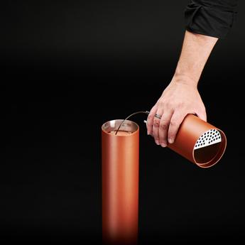Mobilier urbain - design - cendrier - ash tray- Marc Aurel - metal - mobilier - urbain - outdoor - street furniture