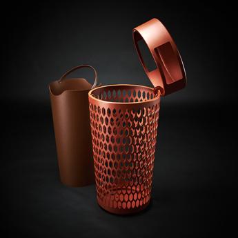 Mobilier urbain - design - corbeille - bins - Marc Aurel - metal - mobilier - urbain - outdoor - street furniture
