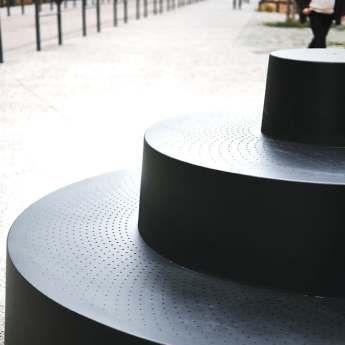 Gradin métal urbain Jean Couvreur