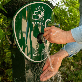 Hand washer Soap on Town Fountains