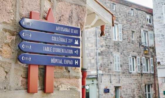 Panneaux d'orientation ville