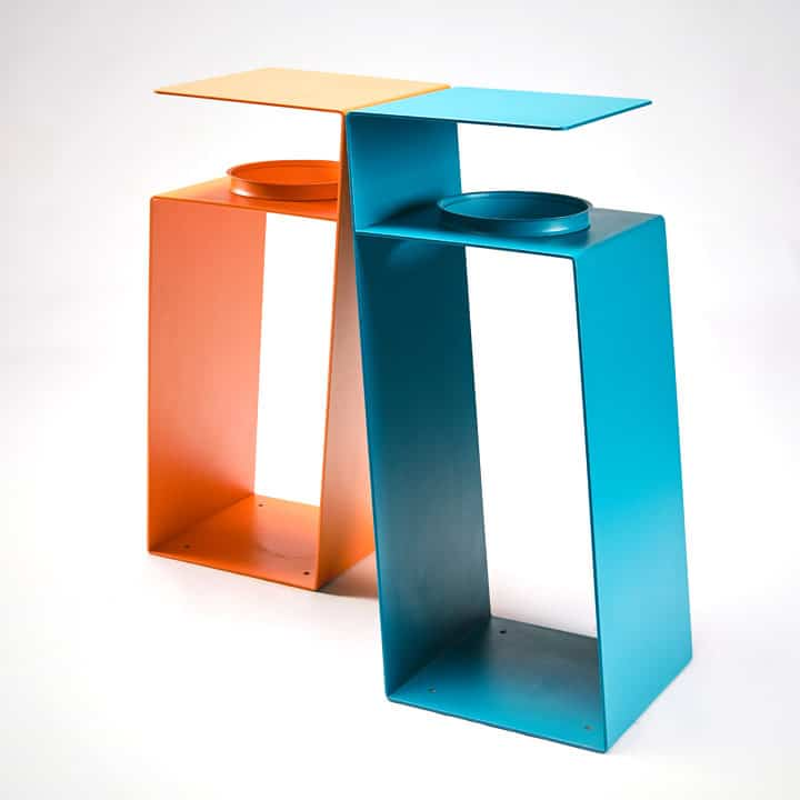minimalistic-corbeille de tri-urban trash-metal-mobilier-urbain-outdoor-street furniture