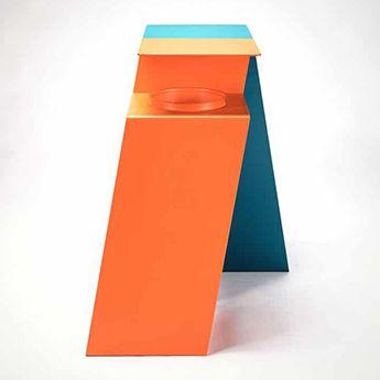 minimalistic-corbeille de tri-urban trash-metal-mobilier-urbain-outdoor-street furniture