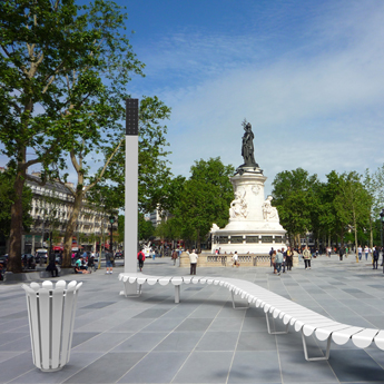 Banc urbain design François Bazenant