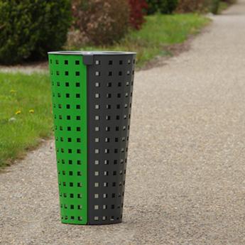 Poubelle pour espaces publics