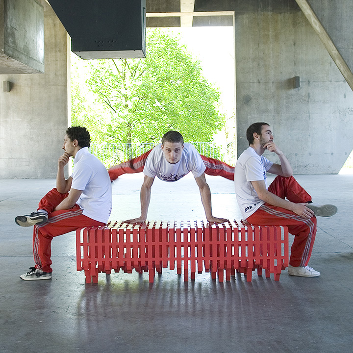 Contemporary Street Furniture Metal Bench