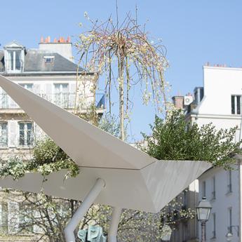Jardinière urbaine suspendue design