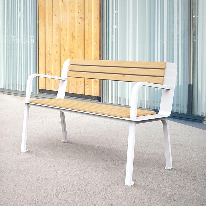 mobilier-collectivite-banc-metal-bois