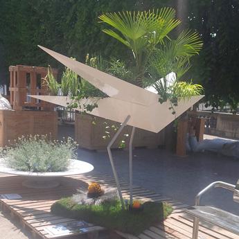 Jardinière public design imaginée par Alexis Tricoire