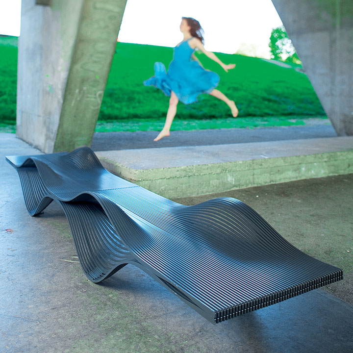 Street Furniture Sunbed Muscle