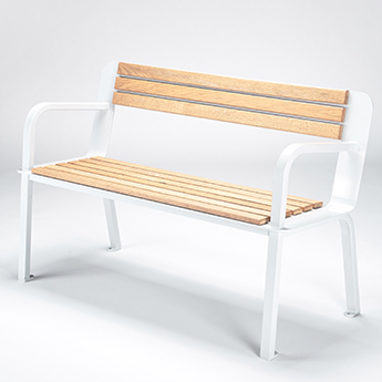 Design Parks Furniture Wood and Metal Bench