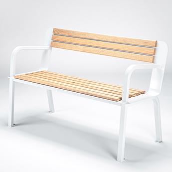 Design Parks Furniture Wood and Metal Bench