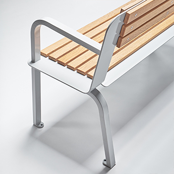Design Street Furniture Wood and Metal Bench