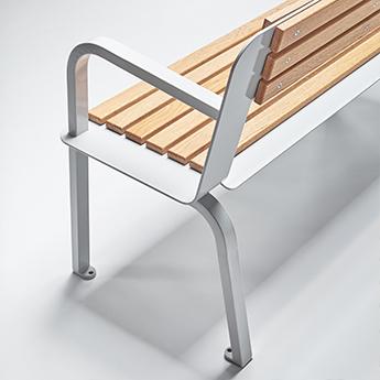 Design Street Furniture Wood and Metal Bench