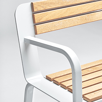 Design Urban Furniture Wood and Metal Bench