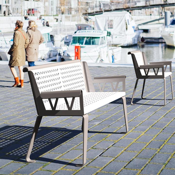 City design street bench sofa
