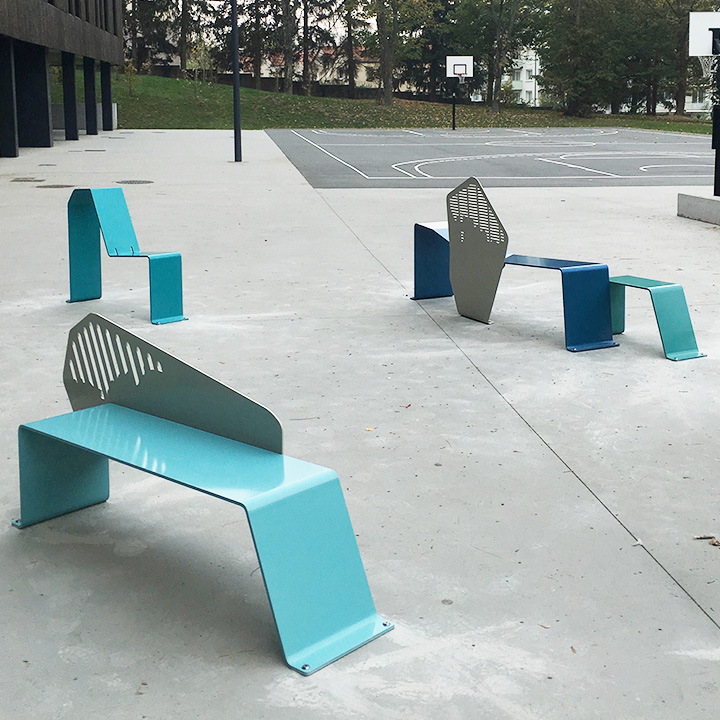 Public Standing bench Astree