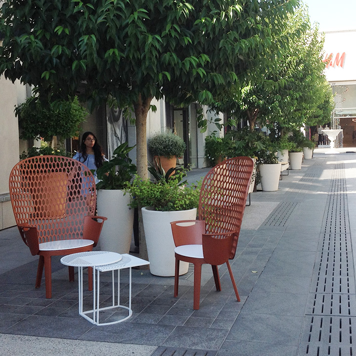 mobilier urbain design chaise