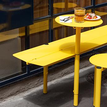 Aménagement pour terrasse de bar