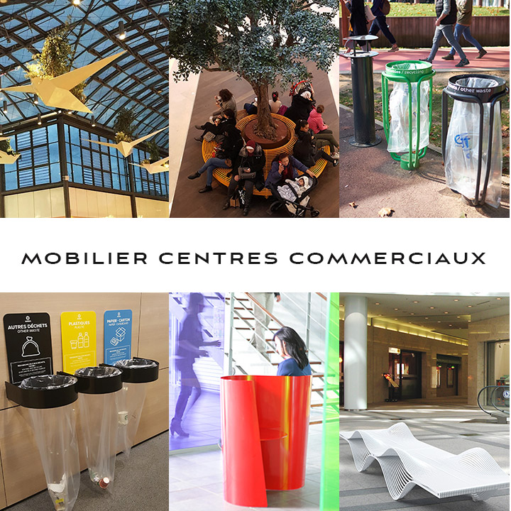 Fabricant de Mobilier pour centres commerciaux