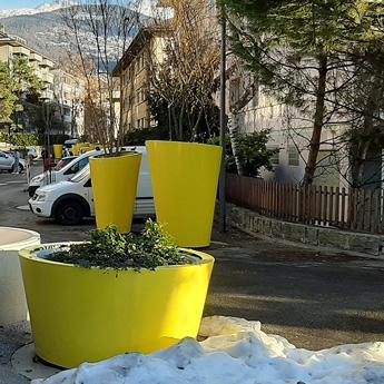 Jardinière de ville ronde géante