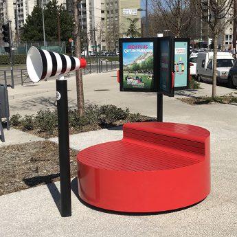 Mini podium urbain design