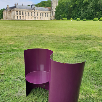 Design Metal Double Chair for visitors