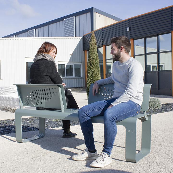 banc urbain zig&zag by Fritsch & Durisotti Tolerie Forezienne