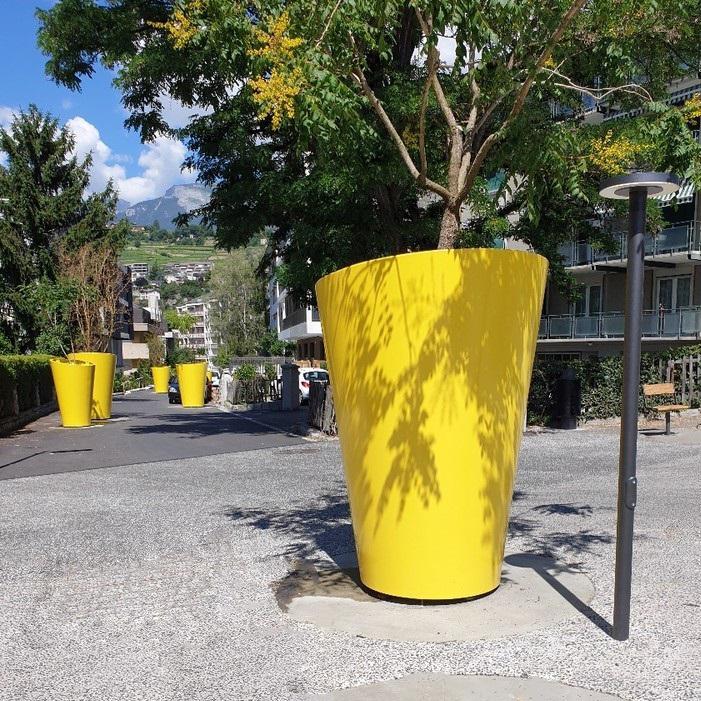 TF URBAN - jardinière géante Sion - Design by DV Architectes