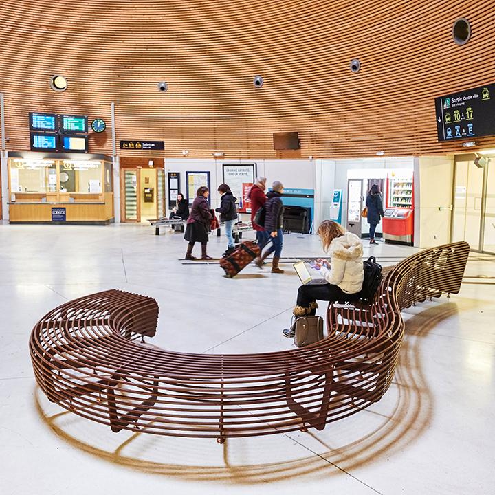 TF Urban - Circular Bench - Design Lucile Soufflet
