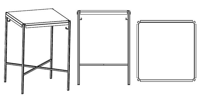 Table Bar Professionnelle Métal